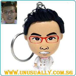 Custom Caricature Key Chain Male Wedding Mini Doll