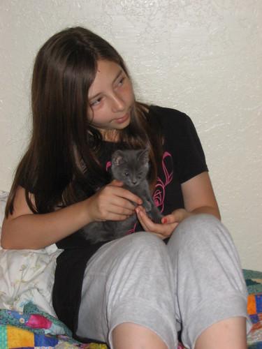 Hannah and kitten
