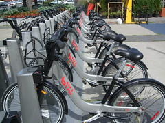 Bixi Bikes in a row