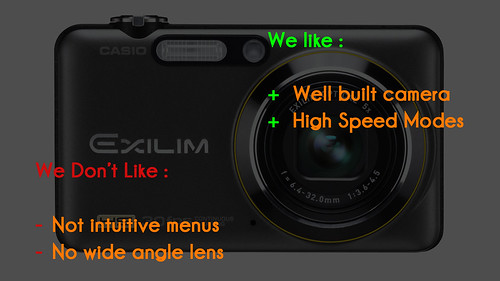Casio Exilim EX FC100: we like/we don't like