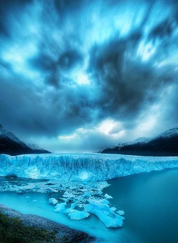 The Massive Glacier at Dusk