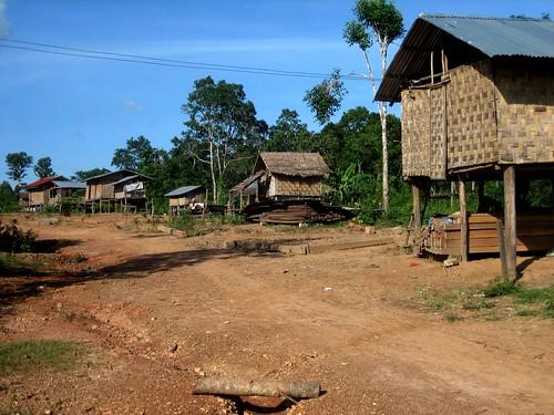 Lao Village Scene