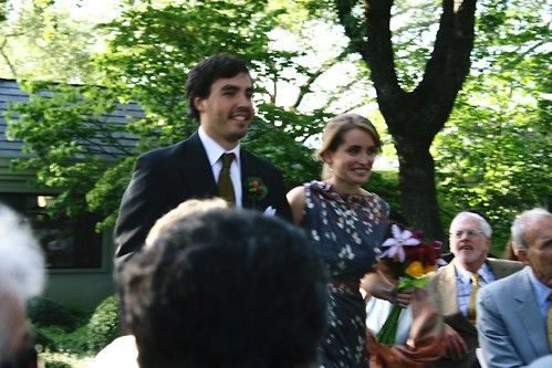 Martin and Julia coming down the aisle