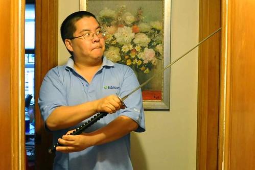 The problem with samurai swords for home defense