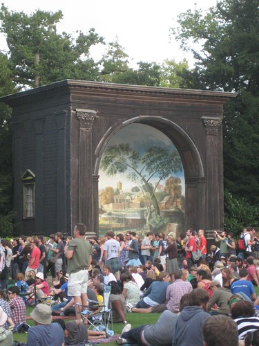 The Larmer Tree mural thing