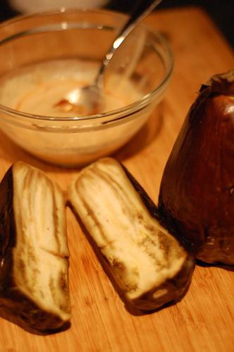 Eggplant meat.