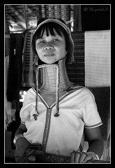 (SLpixeLS) Tags: travel portrait people blackandwhite woman thailand necklace asia southeastasia village faces noiretblanc burma traditional tribal karen thalande ring rings longneck tribes myanmar asie tribe ethnic brass burmese mujeres birma coils bodymodification indigenous villagers padang hilltribe maehongson longnecktribe tribu padong theface longnecks padaung birmanie jirafa collo kayan longo femmegirafe birmania karenni folkclore longneckkaren mujeresjirafa burmeseborder paduang collolungo earthasia giraffewomen padaoung