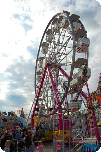 ferris wheel at the Carp Fair