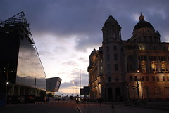 Pier Head evening (Sam the sham and the photos) Tags: cinema film liverpool pierhead bigscreen onthewaterfront museumofliverpool