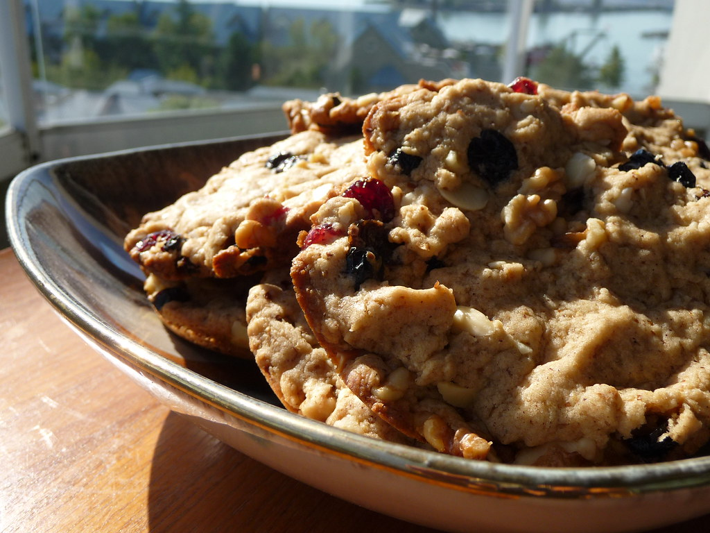 Gluten free cookies with dried berries and nuts