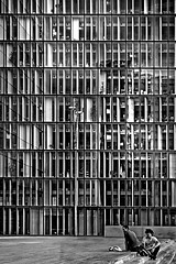 Bibliothque Nationale de France (hh96) Tags: blackandwhite bw paris glass architecture steel dominiqueperrault curtainwall newnationallibrary nouvellebibliothquenationale