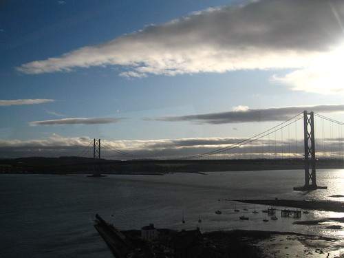 View from a train - the Firth of Forth