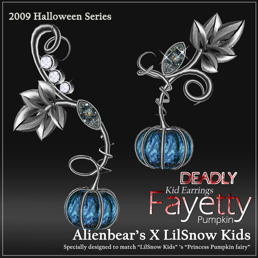 Fayetty Deadly Pumpkin kid earrings