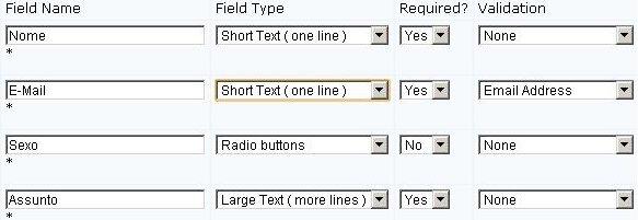 Criar formulário de contato passo 2.