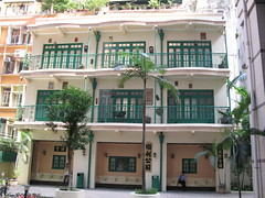 fake shophouses - Li Chit St, Wanchai