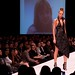 Illinois Institute of Art's student designer, Katherine Swanson, black gown