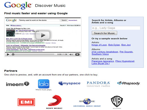 Google's Music Search