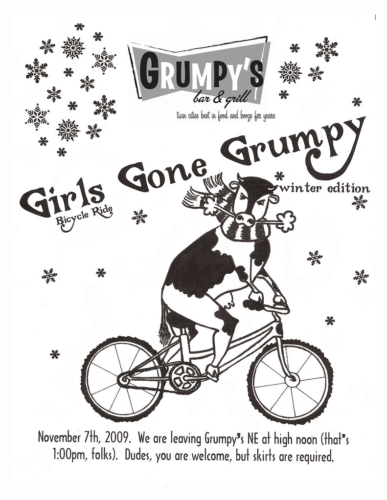 Girls Gone Grumpy Bicycle Ride- Winter Edition