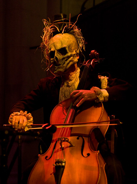 Cellist at The Procession of the Ghouls at the Cathedral of St. John the Divine