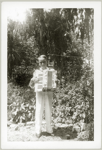 Boy with accordion