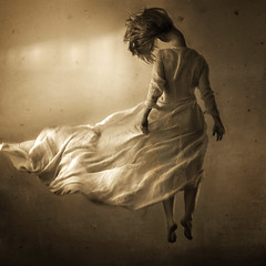 the invisible noose (brookeshaden) Tags: selfportrait broken neck dress invisible hanging flowing noose brookeshaden