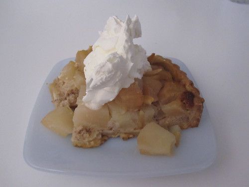 Pear and almond pie from last night's pot luck