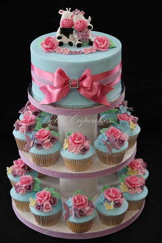 Angela 39s Shabby Chic Wedding Cupcake tower shabby chic wedding
