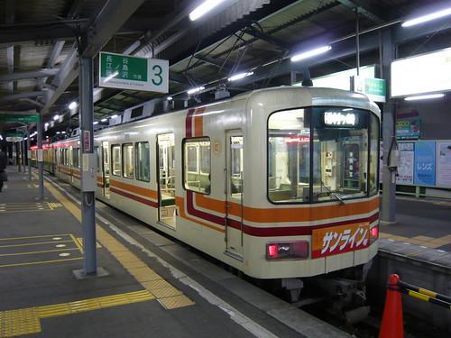 江ノ電1501F稲村ヶ崎行き最終電車@鎌倉