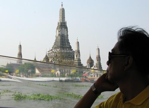 Wat Arun from a commuter boat - Bangkok, Thailand