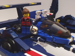 Victoria's Viper with Minifig (peterlmorris) Tags: toy fighter lego acura racer lmp1 alms konami moc americanlemansseries starfighter gradius vicviper novvember arx02a lemansprototypeclass1