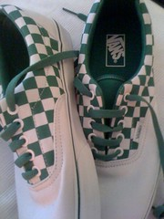 Summer vans, green check
