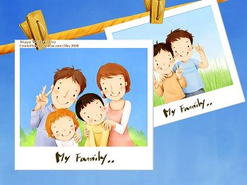 Lovely_illustration_of_Happy_family_photo_wallcoo.com