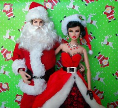 LOOKIN  GOOD  TOGETHER !!! (napudollworld) Tags: santa christmas new fashion happy mr year barbie merry claus mrs royalty