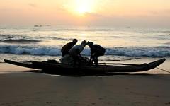 Good Morning (Frame of Reference) Tags: morning sun fish beach delete10 marina delete9 delete5 delete2 boat fisherman sand delete6 delete7 horizon delete8 delete3 rope delete delete4 chennai