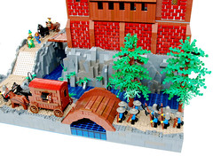 Castle of the Order of Black Falcons (Kris_Kelvin) Tags: castle lego contest medieval fortress colossal