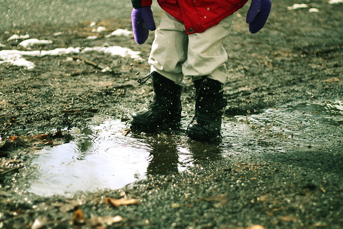 puddle jumping is fun!