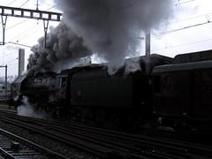 SNCF Dampflokomotive 141 R 568 Mikado in Ostermundigen , Kanton Bern , Schweiz (chrchr_75) Tag