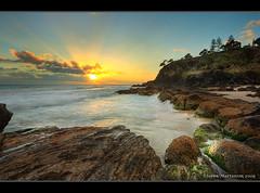 Snapper Rocks Sunrise (danishpm) Tags: ocean sea beach sunrise canon eos rocks australia wideangle qld aussie aus 1020mm hdr coolangatta snapperrocks sigmalens rainbowbay northernnsw eos450d 450d tweedshire sorenmartensen