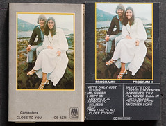 The Carpenters Cassette Covers/Inserts (Ron Hay) Tags: music artwork band entertainment covers cassette closetoyou thecarpenters