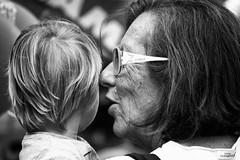 Generazioni (Roybatty63) Tags: portrait bw face blackwhite nikon streetphotography bn ritratto viso biancoenero nonna faccia nipote d80