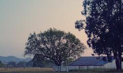 Dusk (Kyle Kruchok) Tags: california santa county trees night barn canon eos evening dusk farm sonoma rosa 7d