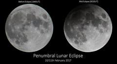 Penumbral Lunar Eclipse Comparison (Gordon Mackie) Tags: lunar penumbral