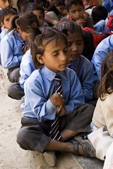 Prayer (harrystaab) Tags: travel india girl photography student village little prayer pray praying schoolchildren 1855mm amateur mussoorie unifrom garhwal inoccence nikond40 harrystaab harrisonbeckstaab