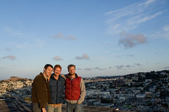 My side of the wedding party (gscottolson) Tags: sanfrancisco rooftop skyline vests
