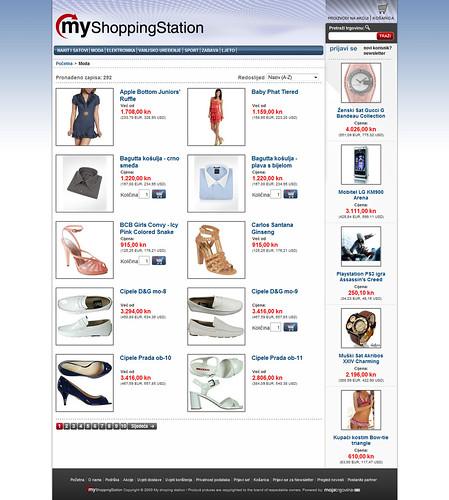 MyShoppingStation web layout