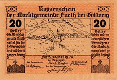 Furth, 20 heller, 1920 (Iliazd) Tags: old money klemens austria sterreich heller token 1920 autriche brosch notgeld notaphily sterreichisches paranumismatica emergencymoney
