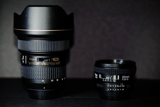 Nikon 14-24mm f/2.8 and Nikon 20mm f/2.8