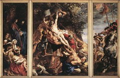 Rubens, Peter Paul (1577-1640) - 1610 Raising of the Cross (Antwerp Cathedral) (RasMarley) Tags: christ cross 17thcentury religion group painter goldenage baroque groupportrait flemish rubens crucifixion tryptich 1610 1610s peterpaulrubens dutchgoldenage raisingofthecross