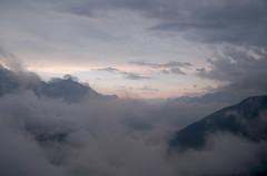 clouds (upsa-daisy) Tags: morning summer mist alps fog clouds sunrise schweiz switzerland nebel sommer wolken alpen sonnenaufgang alpgrm