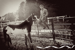 101ox (Photography by Sabreena) Tags: horse guy senior vintage cowboy 71309